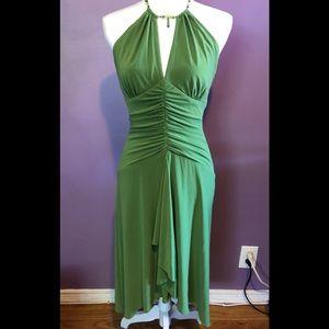 Laundry by Shelli Segal Green Halter Dress